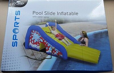 New Crane POOL SLIDE INFLATABLE with WATER SPRAY Swimming Pool Fun kids 3-14