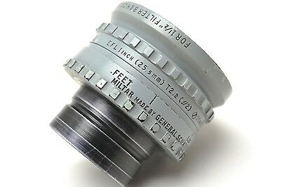 RARE General Scientific Corp. MILTAR 25.5mm f2.0 Lens in 35mm Cine Mount