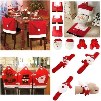 Christmas Decorations Santa Chair /Toilet / Gift Bag Covers Dinner Decor Party