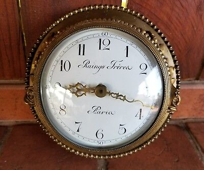 VTG  Raingo Frères  FRENCH NAUTICAL STYLE CLOCK CONVERTED TO BATTERY WORKS EXC