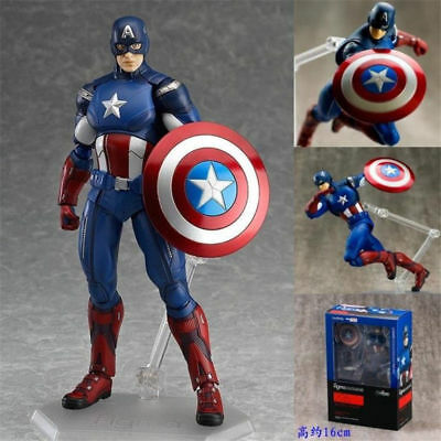 Figma Marvel The Avengers Captain America Action Figure Movable Toy New in Box