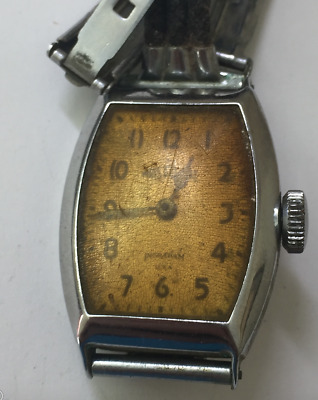 Vintage Ingraham Wrist-O-Crat Men's Watch Art Deco Case Parts/Repair USA
