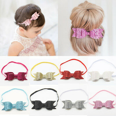 US Baby Girls Women Kid Hairband Bow Elastic Band Headband Hair Accessories Gift