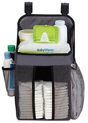 Dexbaby Playard Pack n Play Hanging Organizer Baby Diaper Storage Caddy Gray NIB