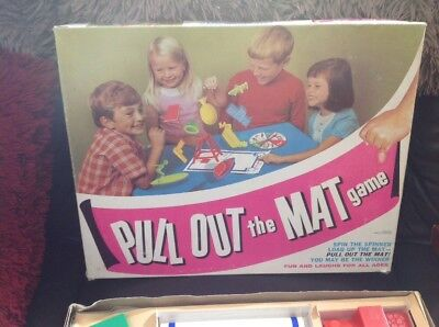 Rare Vintage Board game PULL OUT THE MAT GAME