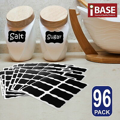 96x Chalkboard Blackboard Chalk Board Stickers Labels Craft Jar Kitchen Party