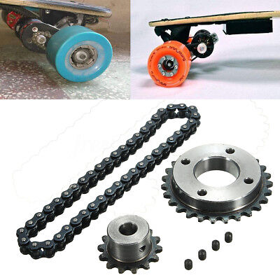 Sprocket Chain Wheel Kit For 8044 Electric Longboard Skateboard Parts DIY AU