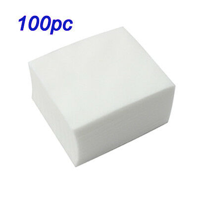 100pc Nail Art Polish Remover Lint Free Cleaner Wipe Cotton Pads Manicure Paper