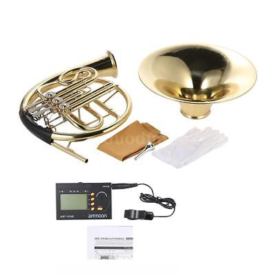 French Horn B/Bb Flat 3 Key with 3in1 Metro-Tuner Case Care Kit+Free Ship E7P6