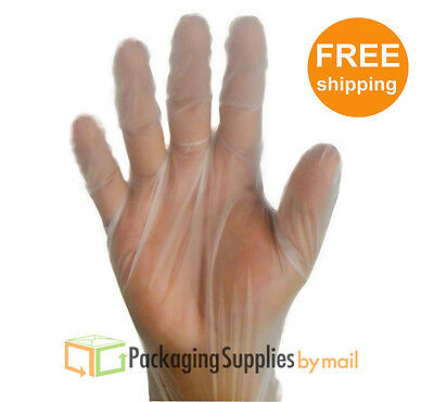 (100) Vinal Disposable Gloves Powder Free Size: Small 1 Box = 100 Pieces