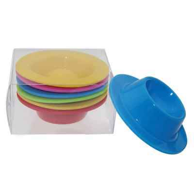 Egg Cup Silicone Egg Holder Tray Eggs Cooker Kitchen Accessory Random 6pcs/set