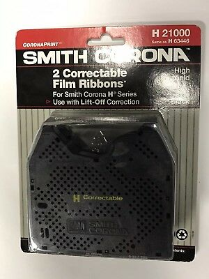 2PK New Genuine Smith Corona H Series 21000 Correctable Typewriter Ribbon