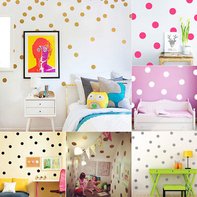 Polka Dot Circle Pattern Wall Decal Vinyl Sticker Decor Living Room Bedroom