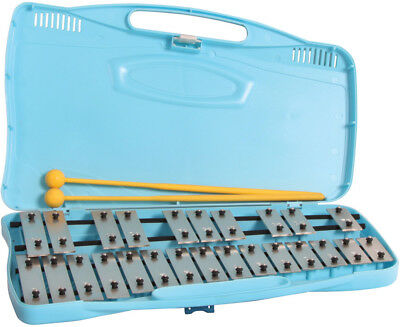 ANGEL Chromatic Glockenspiel *NEW* 25 coloured bars, yellow case, with beaters