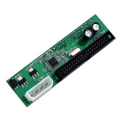 SATA 7+15 TO PATA IDE Converter Adapter For 3.5 HDD DVD AU