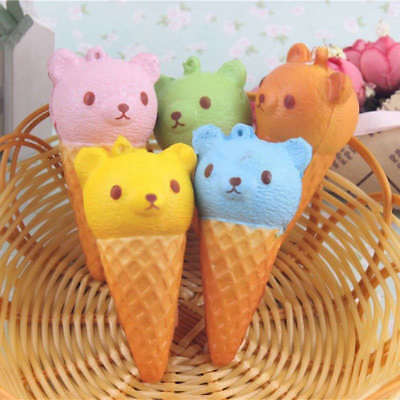 8cm Squishy Kawaii orso gelato Jumbo Cellulare Cinghie giocattolo Pane Charms