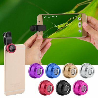 3 In 1 Clip Camera Lens Fish Eye Wide Angle Macro Kit For Smart Phone AU