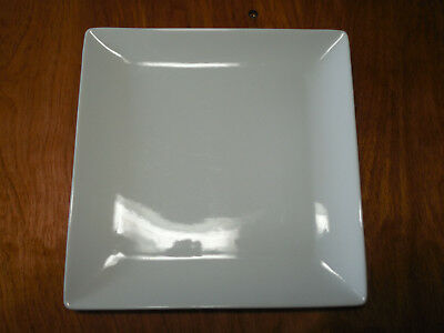 Crate & Barrel Set of 7 All White Smooth Square Rim Salad Plates 8""