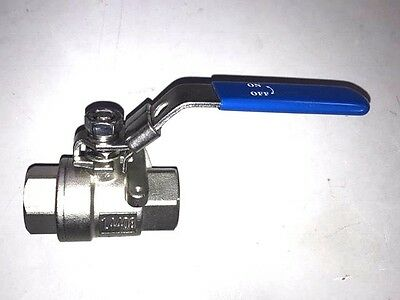 "1/2"" BSPP Female Stainless Steel Lever Operated Ball Valve 1000 Psi"