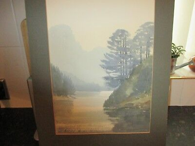 watercolour painting by E.GRIEG HALL.LAKE DISTRICT