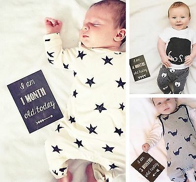 Baby Age Milestone Cards - From 1 Month To 1 Year - Perfect Gift / Photographs