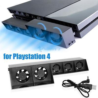 HOT~ Smart Turbo Temperature Control USB Cooling Cooler 5-Fan for Playstation 4