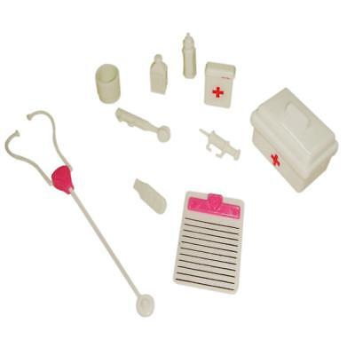 Doctor Medical Play Set Pretend Carry Case Kit Role Play for Barbie Ken Doll