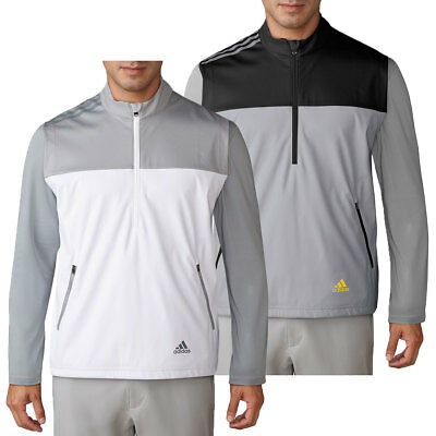 Adidas Golf 2017 Mens Half Zip Competition Wind Pullover Sweater Vest Top