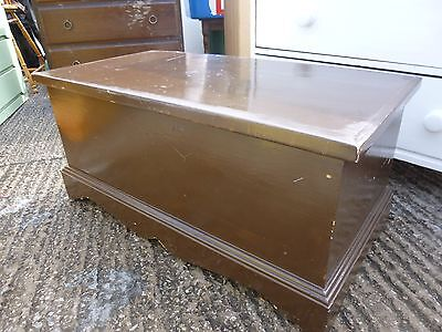 LVintage Painted Pine Wood Blanket Box Chest Trunk Coffee Table