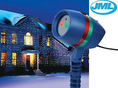 JML Star Shower Motion Laser Light Projected Outdoor Indoor Xmas Christmas Light