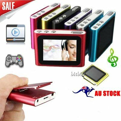 "Digital MP3 Music 1.8"" LCD Screen Media Video Movie 6th MP4 Player AUHA"