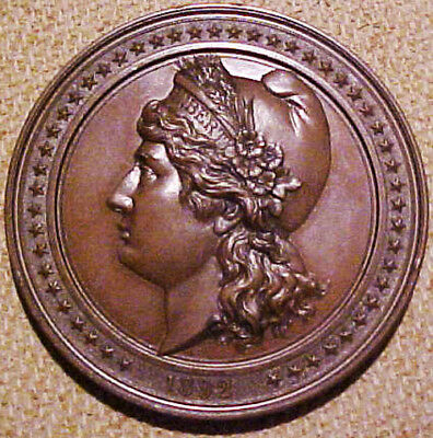 """1892 """"400th Anniversary of the Discovery of America"""" Medal"""