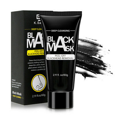 Black Mud Facial Mask Deep Cleansing Blackhead Remover Purifying Peel Face Mask