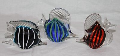 Glass Tropical Fish Set Of 3