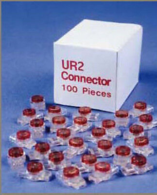 Carton of 10,000 pcs MS-UR2 2/3 Wire IDC Butt Splice Red Gel Connectors