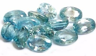 NATURAL PRETTY BLUE NATURAL ZIRCON LOOSE GEMSTONES (PAIR ) OVAL (6.1 x 4.1 mm)