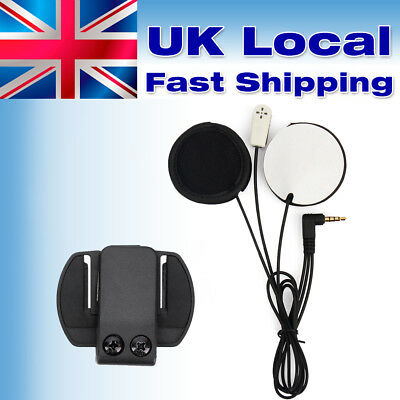 Motorcycle Helmet Speaker Earphone Mic Soft Headset For V6 V4 Moto Intercom UK