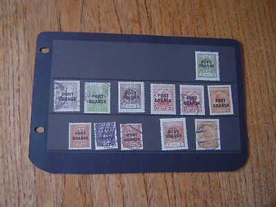 port gdansk poland stamps used / mint  on 2 pages