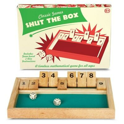 Classic Games Shut The Box - Ideal Game For All The Family - Great Gift idea