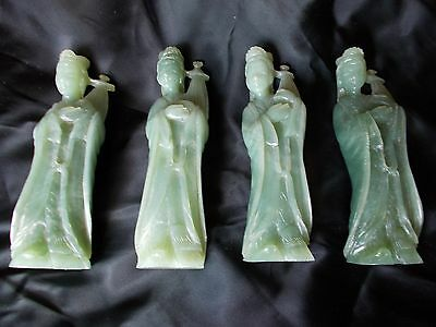 Carved Jade/Hardstone Figures of Goddess MAZU - 4 in collection