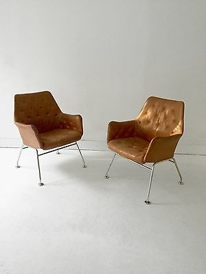 1980 Bruno Mathsson 2 Fauteuils Moderniste Dansk Scandinave Memphis