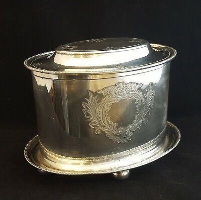 Victorian Atkin Brothers Silver Plated Biscuit Box