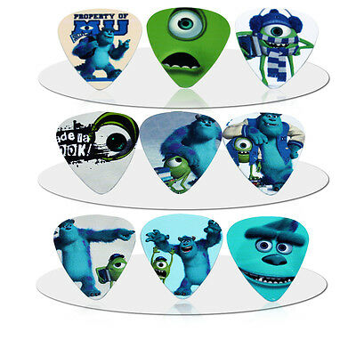 Monsters INC MU University Guitar Picks Lot of 10 .46 mm Free Tracking New