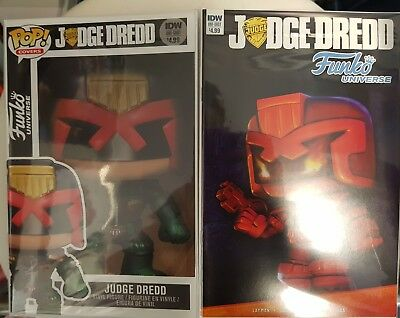 Judge Dredd Funko Universe Idw Comics One Shot Both Covers Bagged Boarded