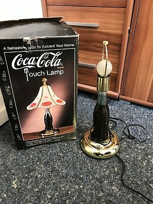 Coca Cola Lampe Touch Lamp mit Ovp. Top Zustand