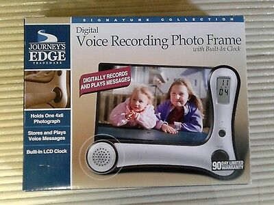 Journey's Edge Digital Voice Recording Photo Frame with Built in Clock - NEW
