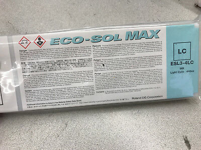Roland Esl3-4Mg Light Cyan Eco-Sol Max Ink 440Cc Factory Sealed