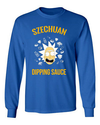 Ricky & Morty Szechuan Sauce McDonalds Mens & Youth Long Sleeve T-Shirt