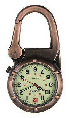 Entino Brand Antique Copper Clip on Carabiner Sturdy FOB Watch Military Style