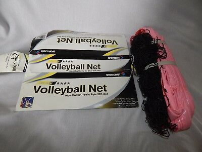 NEW Sportcraft Volleyball Net 32ft Tie-On Badminton Beach Outdoor Indoor Tennis